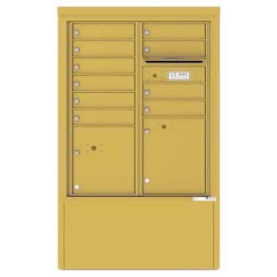 10 Door Florence Versatile 4C Depot Cabinet Cluster Mailboxes 4CADD-10 Gold Speck