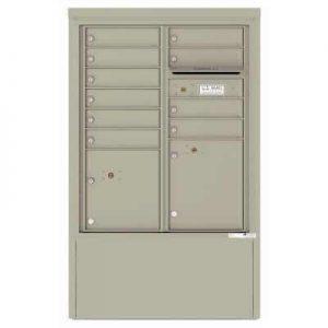 10 Door Florence Versatile 4C Depot Cabinet Cluster Mailboxes 4CADD-10 Postal Grey