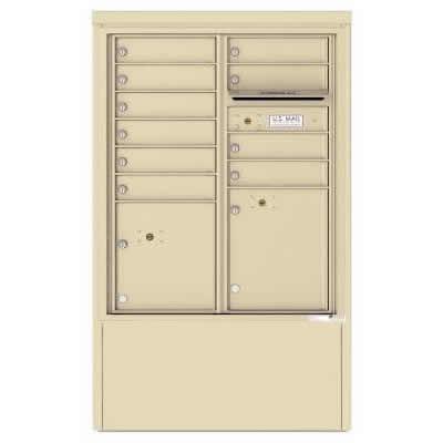10 Door Florence Versatile 4C Depot Cabinet Cluster Mailboxes 4CADD-10 Sandstone