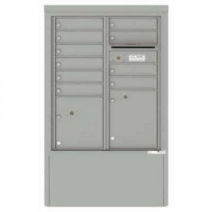 10 Door Florence Versatile 4C Depot Cabinet Cluster Mailboxes 4CADD-10 Silver Speck