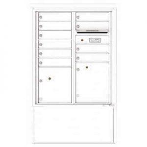 10 Door Florence Versatile 4C Depot Cabinet Cluster Mailboxes 4CADD-10 White