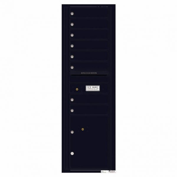 Florence Versatile Front Loading 4C Commercial Mailbox with 8 tenant Doors and 1 Parcel Locker 4C15S-08 Black