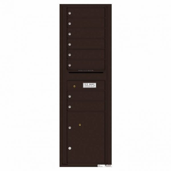 Florence Versatile Front Loading 4C Commercial Mailbox with 8 tenant Doors and 1 Parcel Locker 4C15S-08 Dark Bornze