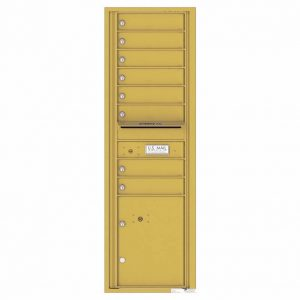 Florence Versatile Front Loading 4C Commercial Mailbox with 8 tenant Doors and 1 Parcel Locker 4C15S-08 Gold Speck