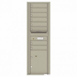 Florence Versatile Front Loading 4C Commercial Mailbox with 8 tenant Doors and 1 Parcel Locker 4C15S-08 Postal Grey