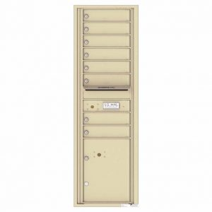 Florence Versatile Front Loading 4C Commercial Mailbox with 8 tenant Doors and 1 Parcel Locker 4C15S-08 Sandstone