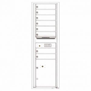 Florence Versatile Front Loading 4C Commercial Mailbox with 8 tenant Doors and 1 Parcel Locker 4C15S-08 White