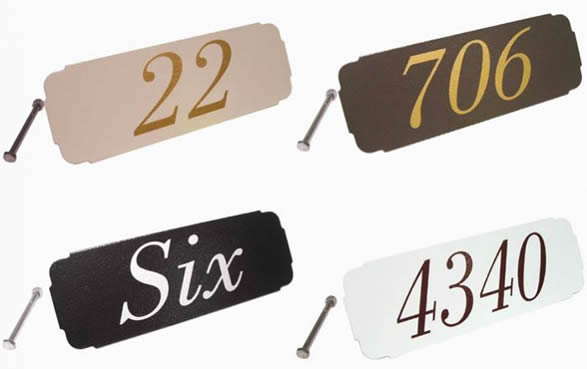 Gaines Classic Address Plaque Colors