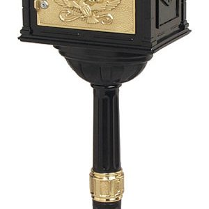 Gaines Classic Black with Polished Brass