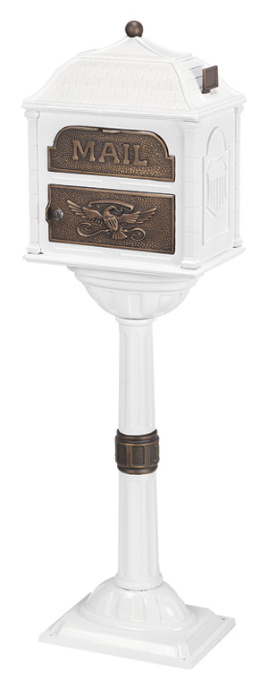 Gaines Classic White with Antique Bronze