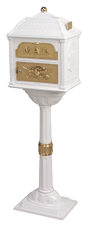 Gaines Classic White with Polished Brass