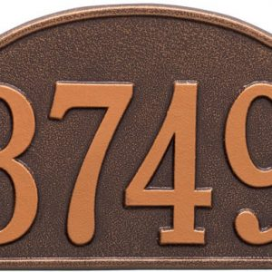 Rolling Hills Plaques – Standard Wall – One Line Antique Copper