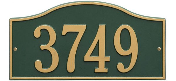 Rolling Hills Plaques – Standard Wall – One Line Green Gold