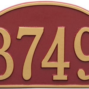 Rolling Hills Plaques – Standard Wall – One Line Red Gold
