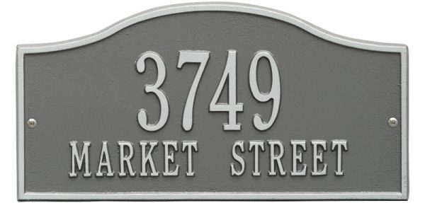 Rolling Hills Plaques – Standard Wall – Two Line Oil Pewter Silver