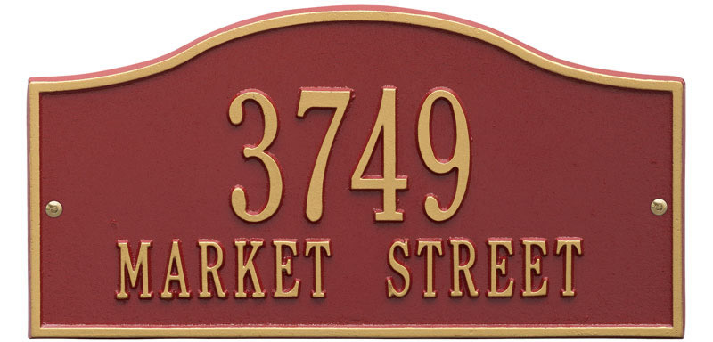 Rolling Hills Plaques – Standard Wall – Two Line Oil Red Gold