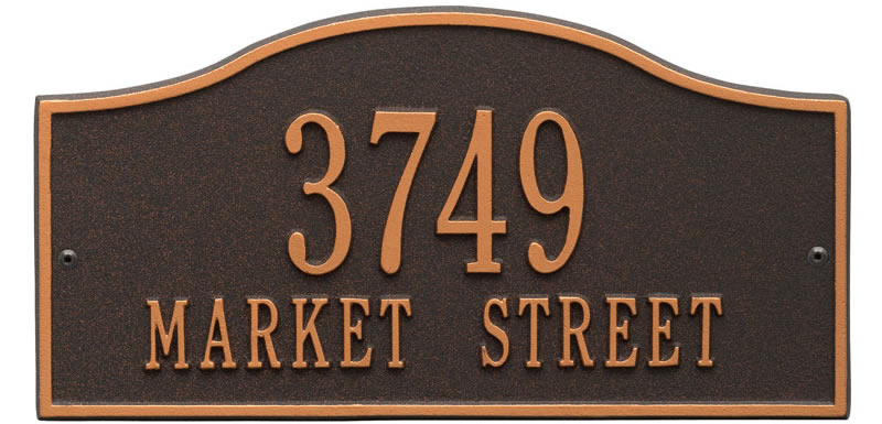 Rolling Hills Plaques – Standard Wall – Two Line Oil rubbed Bronze