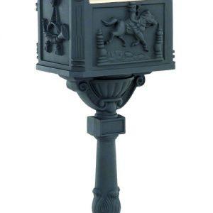 Victorian Pedestal Mailbox Black