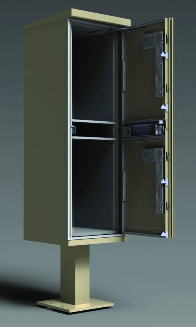 2 Door Florence Outdoor Parcel Locker Open