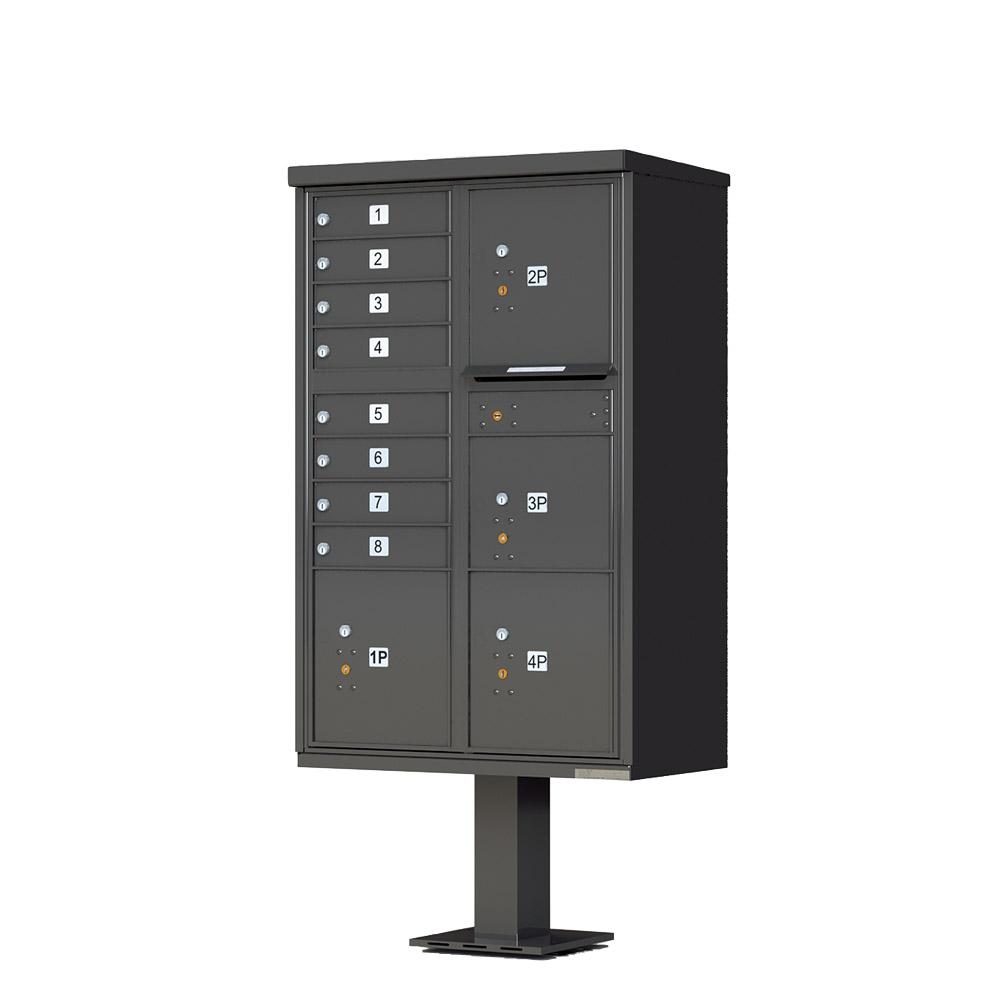 8 Door 4 Parcel CBU Dark Bronze 1570-T6DB