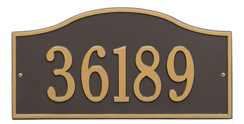 Bronze Gold Rolling Hills Plaque – Grand Wall