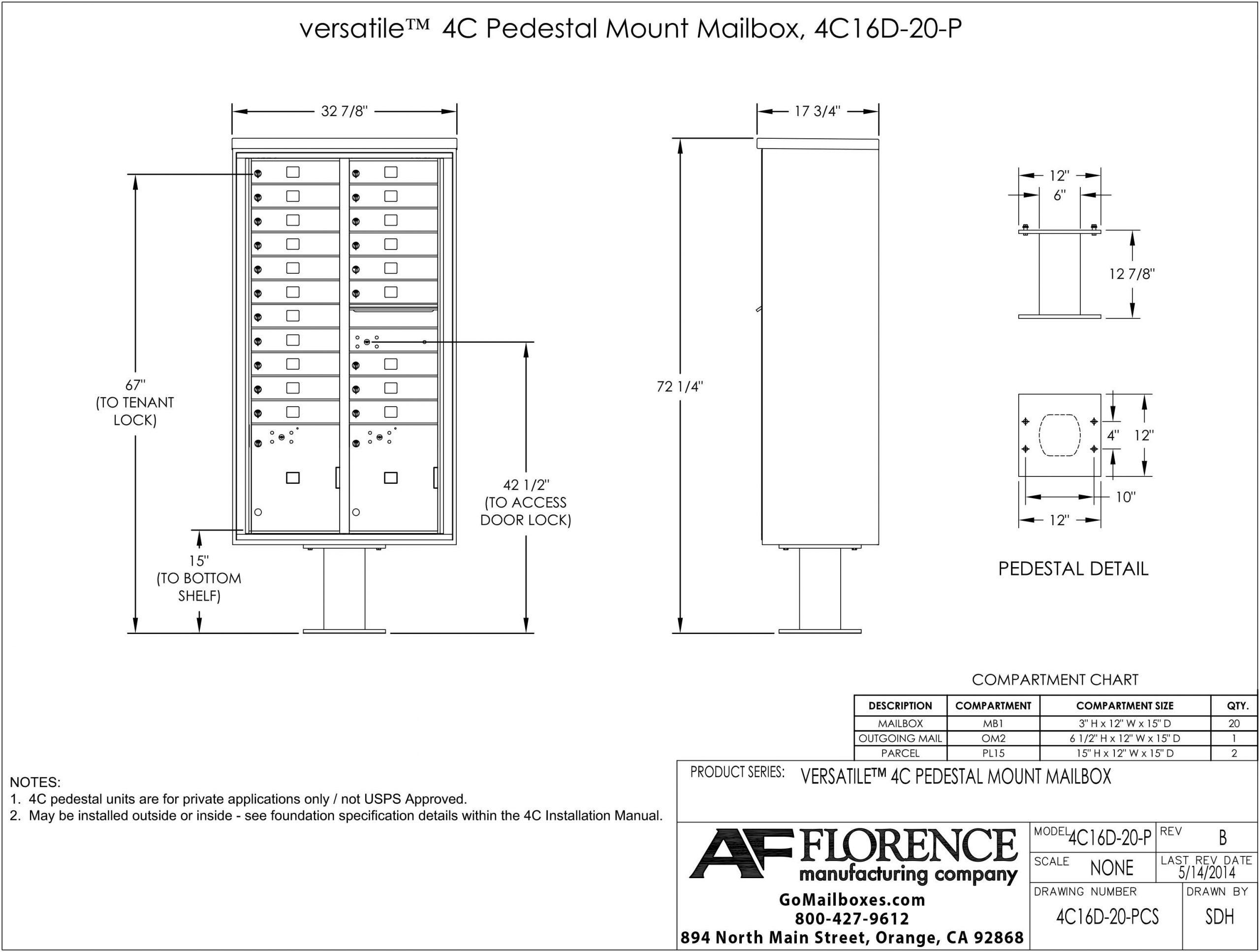 20 Door CBU 4C16D 20 PCS Diagram