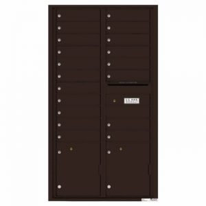 Front Loading Commercial Mailbox with 19 Tenant Compartments and 2 Parcel Lockers - Versatile Double Column Mailbox Dark Bronze 4c16d-19db