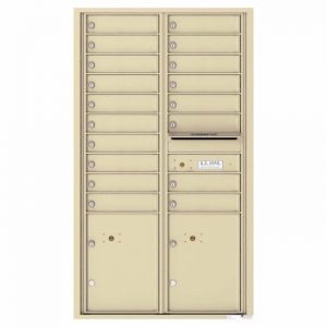 Versatile Front Loading 4C Commercial Mailbox with 18 Tenant Doors and 2 Parcel Lockers Sandstone