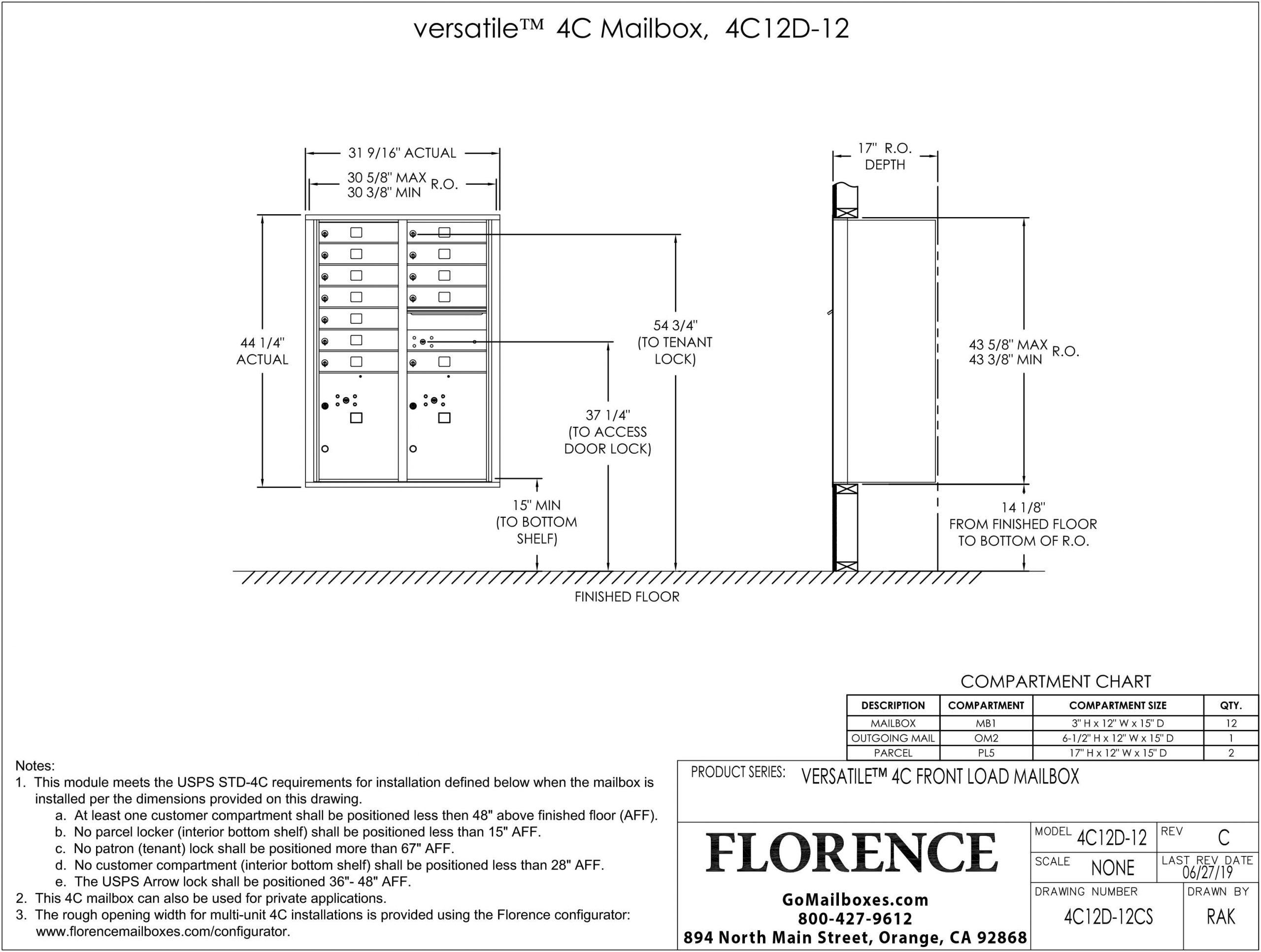 4C12D-12CS Dimensions