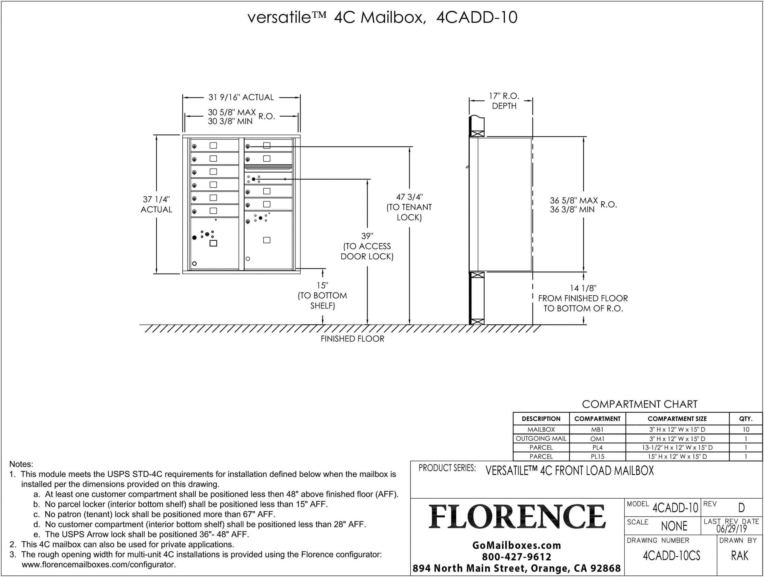 4CADD-10CS-Dimensions