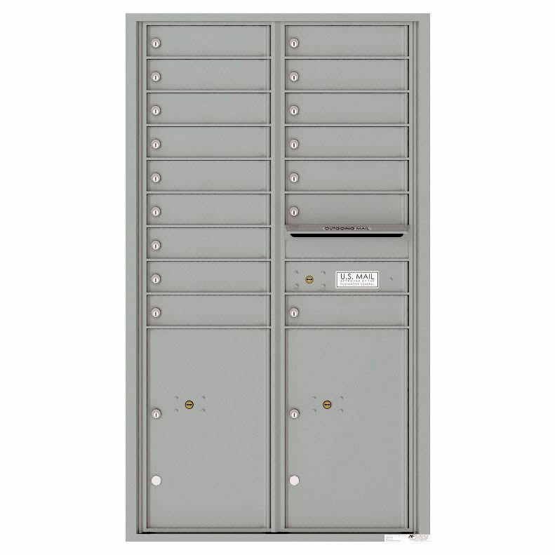 Florence Versatile Front Loading 4C Commercial Mailbox 16 Tenant Compartments with 2 Parcel Lockers