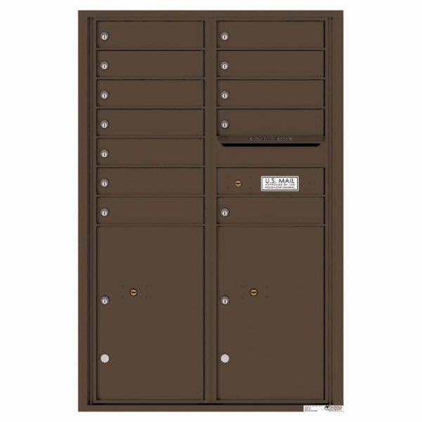 Florence Versatile Front Loading 4C Commercial Mailbox 4C13D-12 Antique Bronze