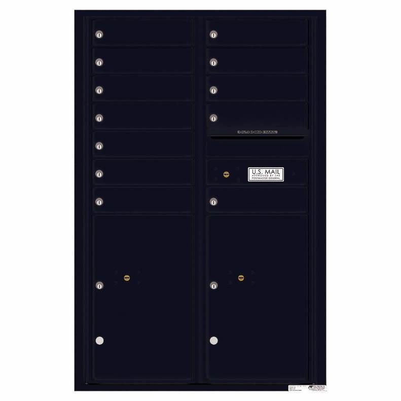 Florence Versatile Front Loading 4C Commercial Mailbox 4C13D-12 Black