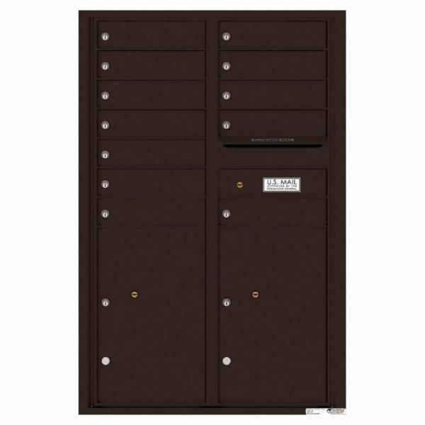 Florence Versatile Front Loading 4C Commercial Mailbox 4C13D-12 Dark Bronze