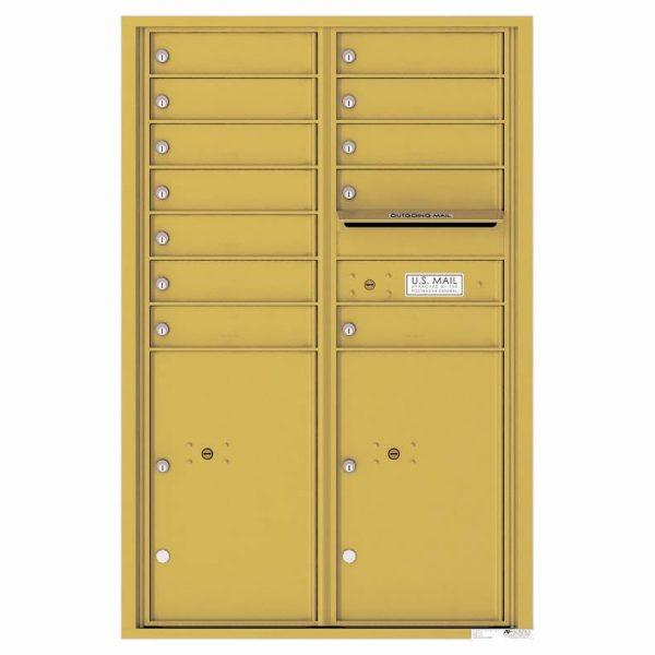 Florence Versatile Front Loading 4C Commercial Mailbox 4C13D-12 Gold Speck