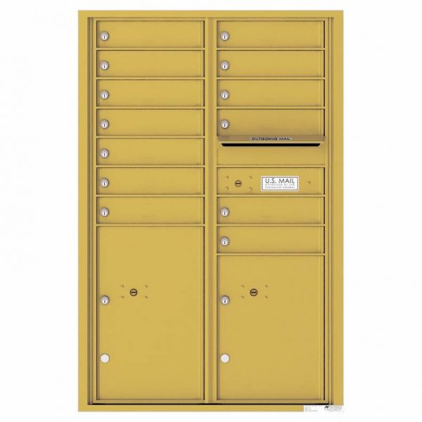 Florence Versatile Front Loading 4C Commercial Mailbox 4C13D-12 Gold Speck