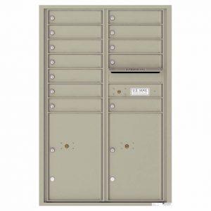 Florence Versatile Front Loading 4C Commercial Mailbox 4C13D-12 Postal Grey
