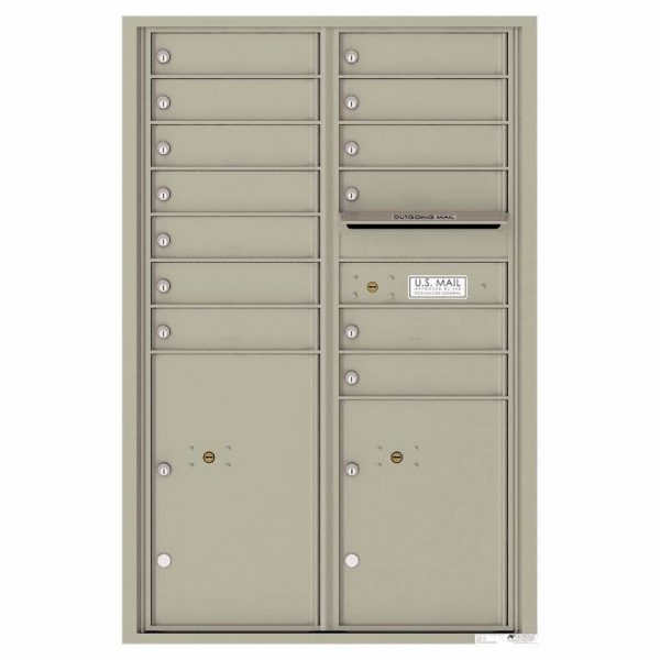 Florence Versatile Front Loading 4C Commercial Mailbox 4C13D-12 Postal Grey