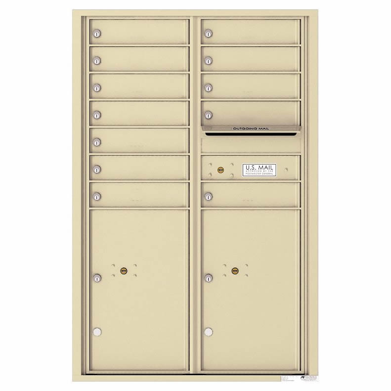 Florence Versatile Front Loading 4C Commercial Mailbox 4C13D-12 Sandstone