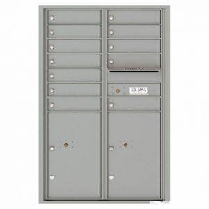 Florence Versatile Front Loading 4C Commercial Mailbox 4C13D-12 Silver Speck