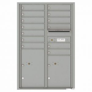 Florence Versatile Front Loading 4C Commercial Mailbox 4C13D-12 Silver Speck