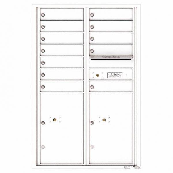 Florence Versatile Front Loading 4C Commercial Mailbox 4C13D-12 White
