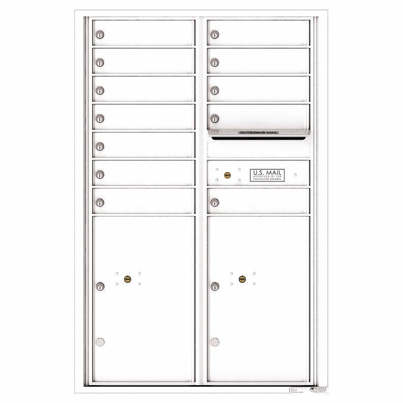 Florence Versatile Front Loading 4C Commercial Mailbox 4C13D-12 White