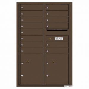 Florence Versatile Front Loading 4C Commercial Mailbox 4C13D-14 Antique Bronze