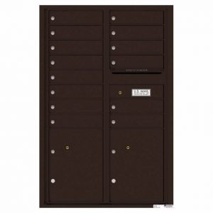 Florence Versatile Front Loading 4C Commercial Mailbox 4C13D-14 Dark Bronze