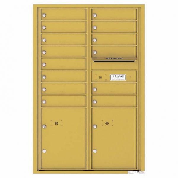 Florence Versatile Front Loading 4C Commercial Mailbox 4C13D-14 Gold Speck