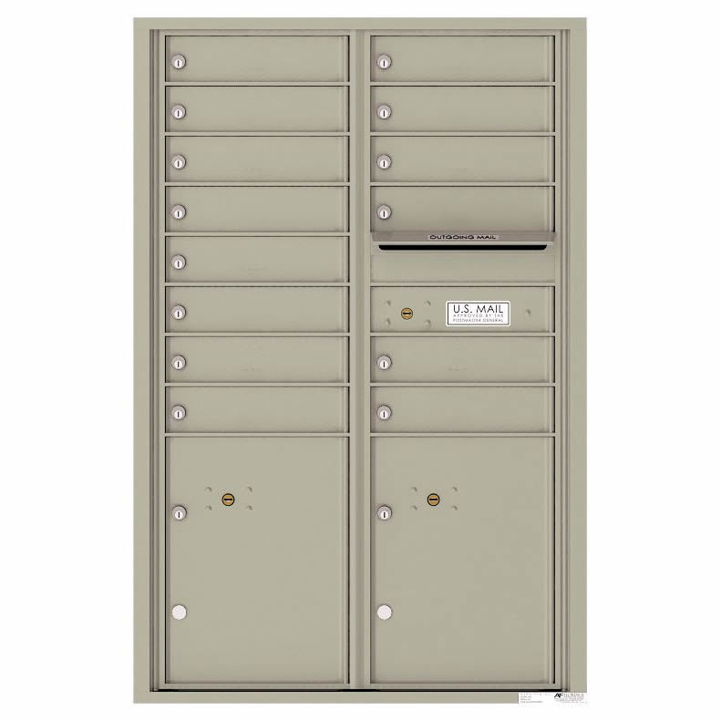 Florence Versatile Front Loading 4C Commercial Mailbox 4C13D-14 Postal Grey