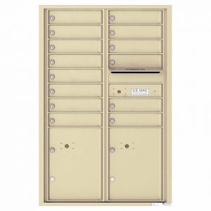 Florence Versatile Front Loading 4C Commercial Mailbox 4C13D-14 Sandstone