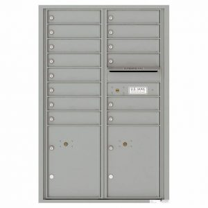 Florence Versatile Front Loading 4C Commercial Mailbox 4C13D-14 Silver Speck