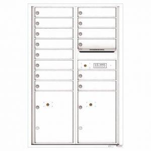 Florence Versatile Front Loading 4C Commercial Mailbox 4C13D-14 White